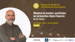 [Online] Mejora tu Karma: Participa en proyectos Open Source, por Fer Torres