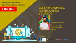 [ONLINE] CSS en WordPress, ¿Cómo, dónde y cuándo? con Mauricio Gelves