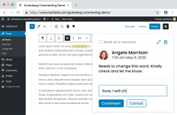New Plugin Adds Google-Doc Style Commenting to Gutenberg Blocks