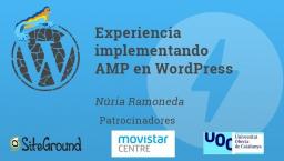 Experiencia implementando AMP en WordPress