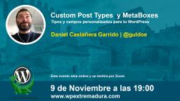 Custom Post Types y MetaBoxes