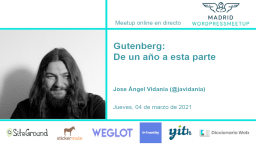 Gutenberg: De un año a esta parte