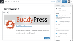 BuddyPress 6.0.0 Released with New Group and Members Blocks