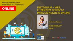 [ONLINE] Instagram + web, el tandem perfecto para un negocio online