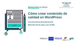 Cómo crear contenido de calidad en WordPress