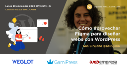 [ONLINE] Cómo aprovechar Figma para diseñar webs con WordPress