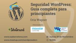 [ONLINE] Seguridad WordPress: Guía completa para principiantes.