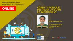 [Online] Cómo (y por qué) instalar un foro en WordPress
