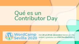Qué es un Contributor Day