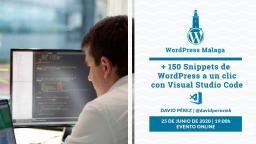 [ONLINE] +150 snippets de WordPress a un clic con Visual Code