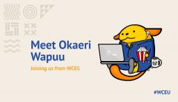 Meet Okaeri Wapuu, our mascot for WCEU 2020 Online
