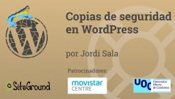 Copias de seguridad en WordPress