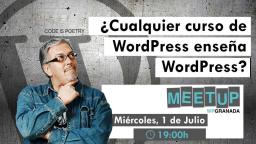 ¿Cualquier curso de WordPress enseña WordPress?