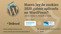 [ONLINE] Nueva ley de cookies 2020 ¿cómo aplicarla en WordPress?