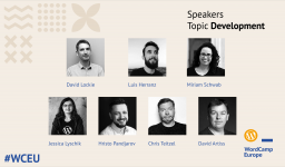 Fifth group of #WCEU speakers – Development (Group I)