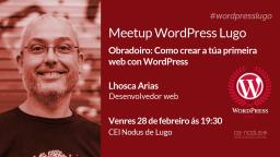 Obradoiro: Como crear a túa primeira web con WordPress