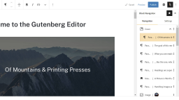 Block Navigation Plugin Provides Missing Context-Based Outline for the WordPress Editor
