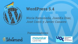 [ONLINE] WordPress 5.4