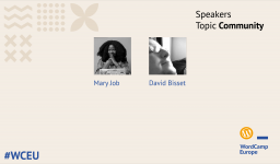 Second group of #WCEU speakers – Community