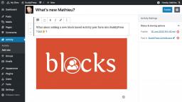 BuddyPress Contributors Begin Work on Block-based Activity Post Form