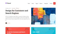 Churel Is a Colorful and Minimalist Block-Ready WordPress Theme