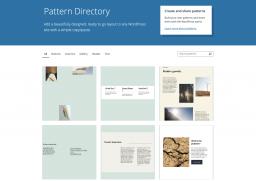 Pattern Directory Targeted to Launch with WordPress 5.8