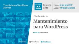 Charla abierta: Mantenimiento para WordPress