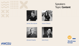 Third group of #WCEU speakers – Content