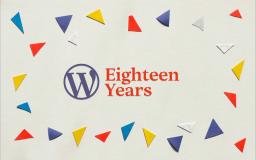 WordPress cumple 18